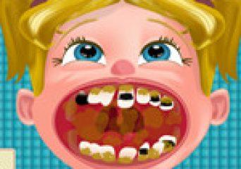 Kislány a fogorvosnál